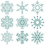 Snow flakes collection Royalty Free Stock Image