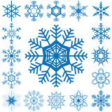 Snow flakes collection Stock Images