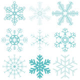 Snow flakes collection Royalty Free Stock Images