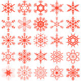 Snow flakes collection Stock Image