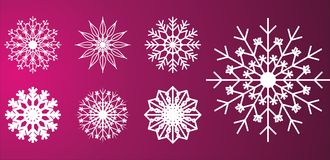 Snow flakes designs Stock Photography
