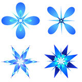 Snow flakes designs Stock Image