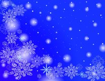Snow flakes falling Stock Images