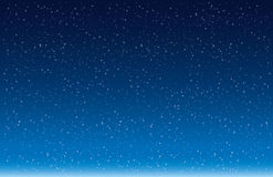 Snow Flakes Falling Against Blue background vector Royalty Free Stock Photos