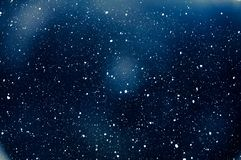 Free Snow Flakes Falling In Winter Snowing At Night Stock Image - 165358041