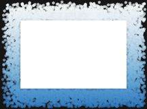 Snow flakes frame 2 Royalty Free Stock Images