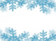 Snow flakes frame. Winter theme background Royalty Free Stock Images