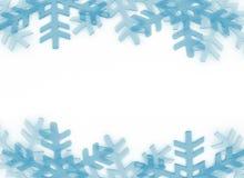 Snow flakes frame vector illustration