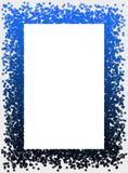 Snow flakes frame. Frame made of blue snow flakes Royalty Free Stock Images