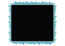 Snow flakes frame - vector Royalty Free Stock Images