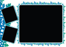 Snow flakes frames Royalty Free Stock Photo