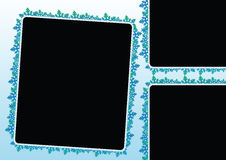 Snow flakes frames Royalty Free Stock Images