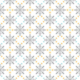 Snow Flakes Ornament Seamless Pattern Royalty Free Stock Images