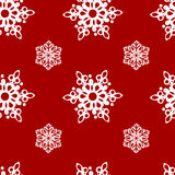 Snow_flakes. Red seamless pattern with snowflakes Royalty Free Stock Images