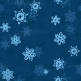 Snow flakes seamless background Royalty Free Stock Photography