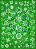 Snow flakes tattoo pattern Stock Photography