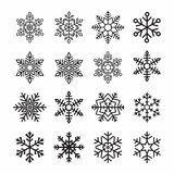 Snow flakes Royalty Free Stock Photo