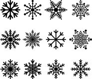 Snow flakes stock illustration