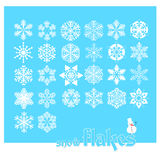 Snow flakes vector Royalty Free Stock Image