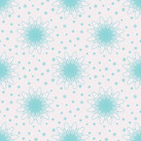 Snow Flowers Seamless Pattern Stock Photo