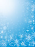 Snow Flurries in Blue Royalty Free Stock Photo