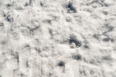 Snow Footprints. Footprints and bootprints in the snow going in all directions stock photography