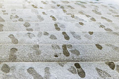 Snow Footprints Royalty Free Stock Image