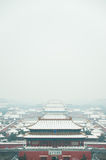 Snow on the Forbidden City. Beijing, China Stock Image