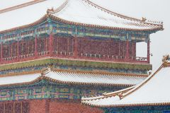 The snow in the Forbidden City scenery Royalty Free Stock Images