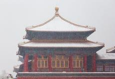 The snow in the Forbidden City scenery Stock Photos