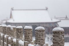 The snow in the Forbidden City scenery Stock Photography