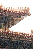 The snow in the Forbidden City scenery Stock Image