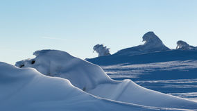 Snow formations Stock Photography