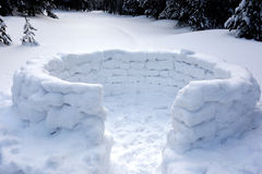 Snow fort Royalty Free Stock Photos