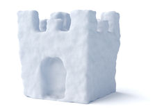 Snow fort tower isolated Royalty Free Stock Images