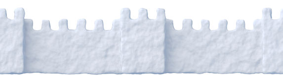 Snow fort wall seamless Stock Images