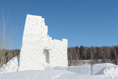 Snow fortress Royalty Free Stock Photography