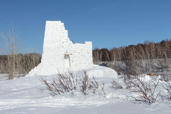 Snow fortress Stock Images