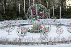 Snow fountain Royalty Free Stock Image