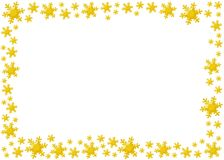 Snow frame. Decoration snow flake isolated background for frame Royalty Free Illustration