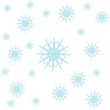 Snow of frame. On background Stock Photography