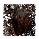 Snow frame background. Snow frame on dark  background for winter season Stock Images