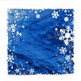 Snow frame background. Snow frame on blue background for winter season Stock Images