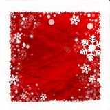 Snow frame background. Snow frame on red background for winter season Stock Photography