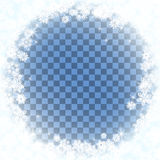 Snow frame blue background. Royalty Free Stock Image
