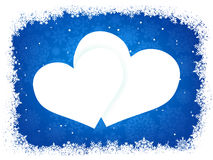 Snow Frame In The Shape Of Heart. EPS 8 Stock Image