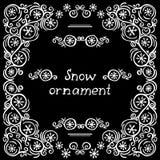 Snow frame Stock Photo