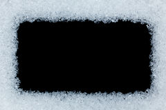 Snow frame Stock Images