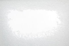 Snow frame with white copy space Royalty Free Stock Images