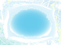 Snow framework. Gentle white-blue framework with winter patterns Royalty Free Stock Photos